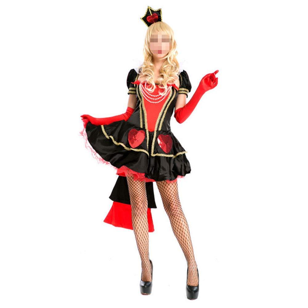 Moojm Halloween Cosplay Costume Regina Rosso Principessa Costume Signore