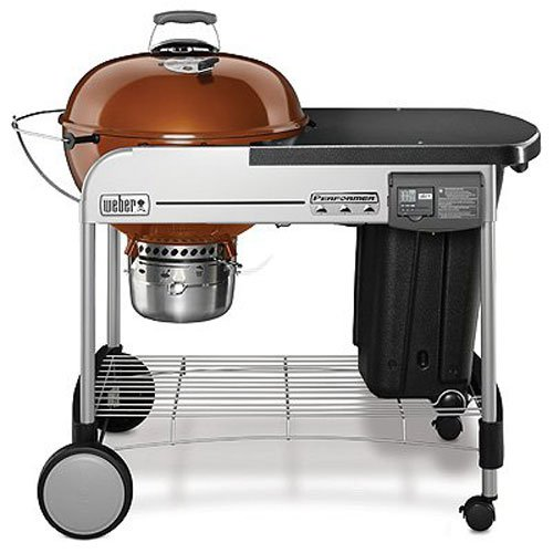 5. Weber 15502001 Performer Deluxe Charcoal Grill, 22-Inch, Copper