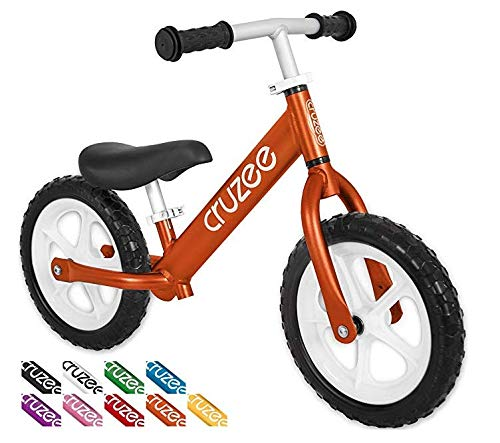 Cruzee Ultralite Balance Bike (4.4 lbs) for Ages 1.5 to 5 Years | Orange - Best Sport Push Bicycle for 2, 3, 4 Year Old Boys & Girls– Toddlers & Kids Skip Tricycles on The Lightest First Bike