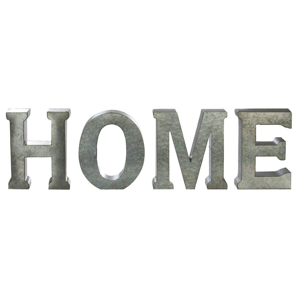 HOME Coloris GRIS Patin/é Lettres d/écoratives murales ou /à poser