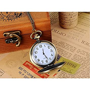 6d911e5bc Amazon.com : Men's Watches Women's World map with Heavy Duty Locomotive  Design Alloy Analog Quartz Pocket and Necklace Watch Cool Watches Unique  Watches ...