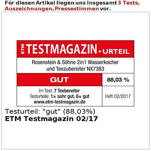 Rosenstein & Söhne - Tetera automática (: 2 in1 Hervidor de ...