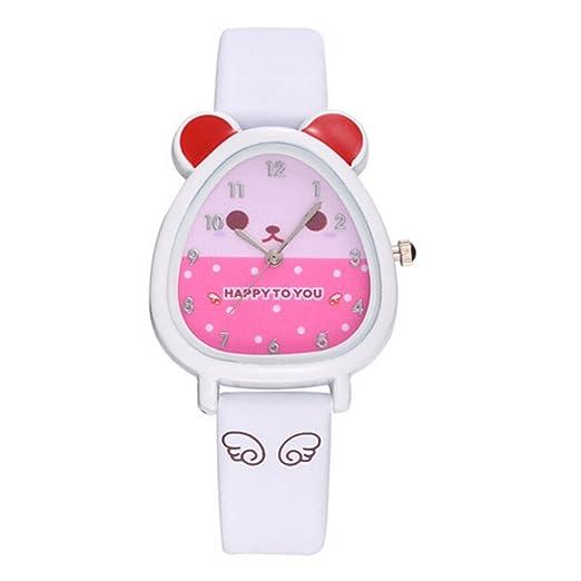 Kanpola Decoración Infantil Relojes,Lovely Animal Design Boy Girl Children Quartz Watch Kids Birthday Gift