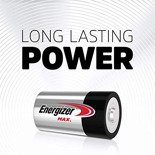 Energizer Max D Batteries, Premium Alkaline D Cell Batteries (8 Battery Count) - Packaging May Vary
