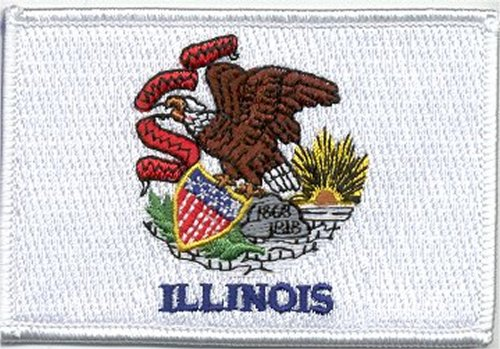 State Flag Patch 100% Embroidered Patch - Iron-on/Sew-on 3 1