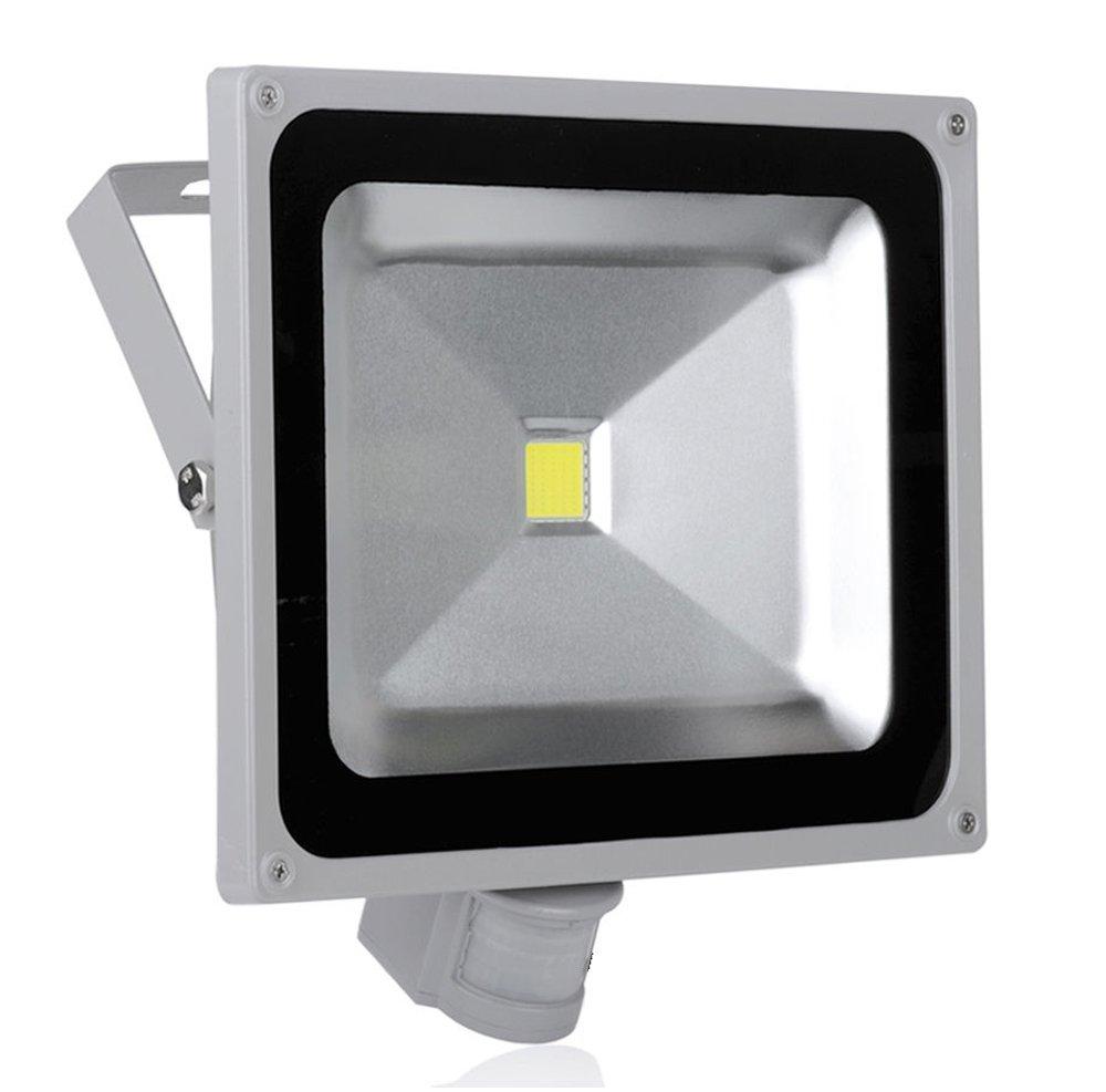 PMS® 10W/20W/30W/50W Blanco Frío LED Foco Proyector Luz, Foco proyector con iluminación LED y PIR sensor de movimiento (50 Watts): Amazon.es: Iluminación