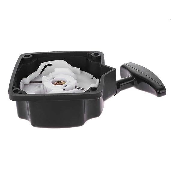 JOYKK Accesorios de Motosierra Pull Starter Reemplazo de Piezas 40-5 Desbrozadora cortadora de Pasto - Blanco y Negro