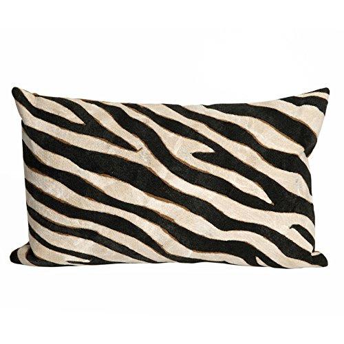 "Liora Manne Mystic I Wild Horse Indoor/Outdoor pillow, Black - 12"" X 20"""""