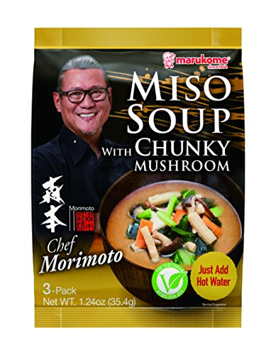 Marukome Chef Morimoto Miso Soup with Chunky Mushrooms, 1.24 Ounce (Pack of 12)