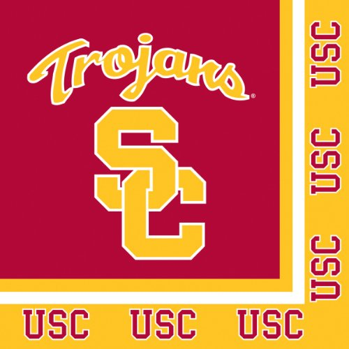 20-Count NCAA Paper Lunch Napkins, USC -