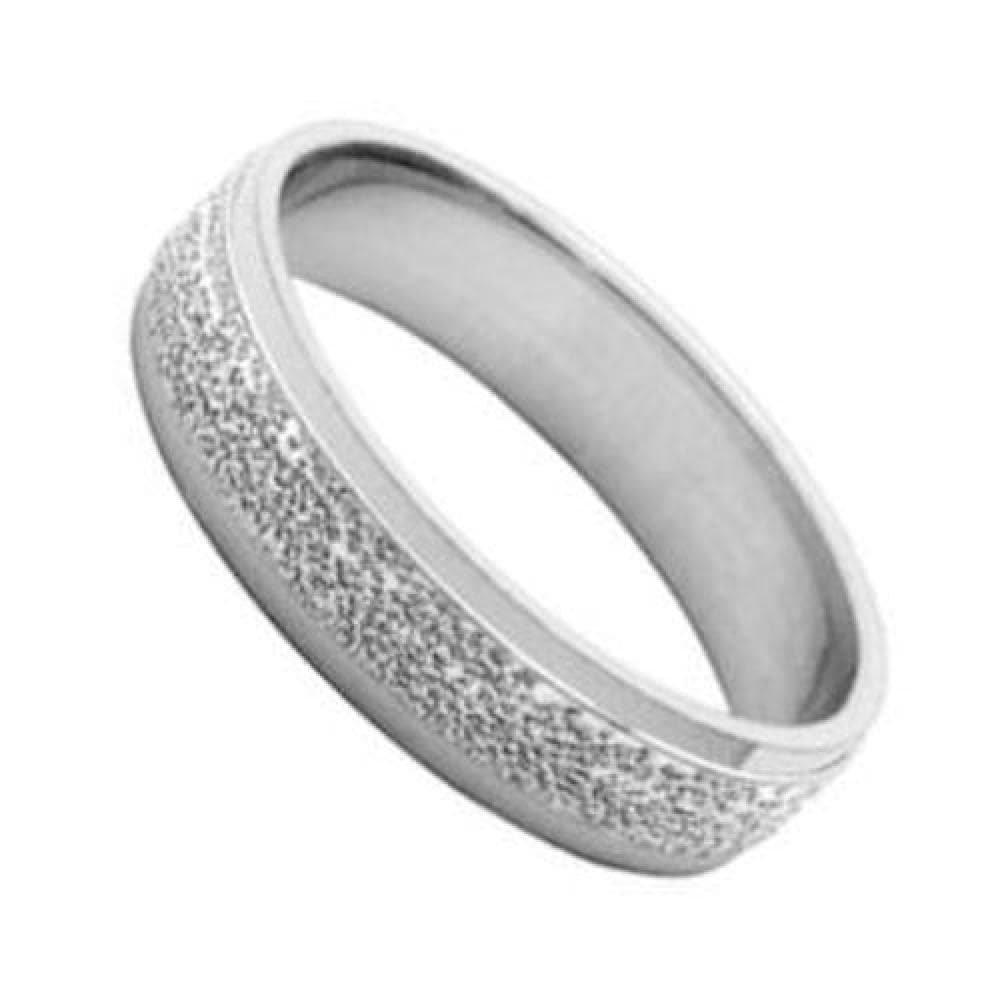 Your Message Engraved Free So Chic Jewels 925 Sterling Silver 5 mm Granite Effect Wedding Band Ring Customisable