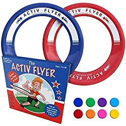 Activ Life Best Kid's Flying Rings [Red/Blue] Top Birthday Gifts Presents Xmas Stocking Stuffers - Cool Toys for Year Old Boys Girls and Fun Family Outdoor Games Love Hot Bday & Child X-mas Idea