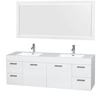 Wyndham Collection Amare 72 Inch Double Bathroom Vanity In Glossy