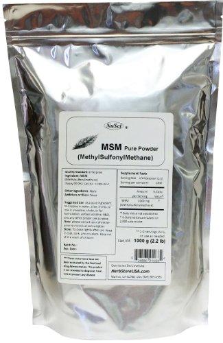 NuSci MSM (méthylsulfonylméthane) 1000g (2,2 lb) de poudre pure à 99,9%