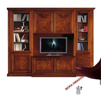 Klassisch Zusammensetzung Wohnwand Nussbaumanstrich Mobile TV Für Esszimmer  550 298 X 56 X 237