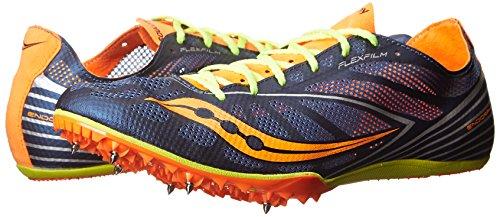Endorfinas para hombre Saucony MD4 para correr para prendas de piel Blue / Citron / Vizi Orange