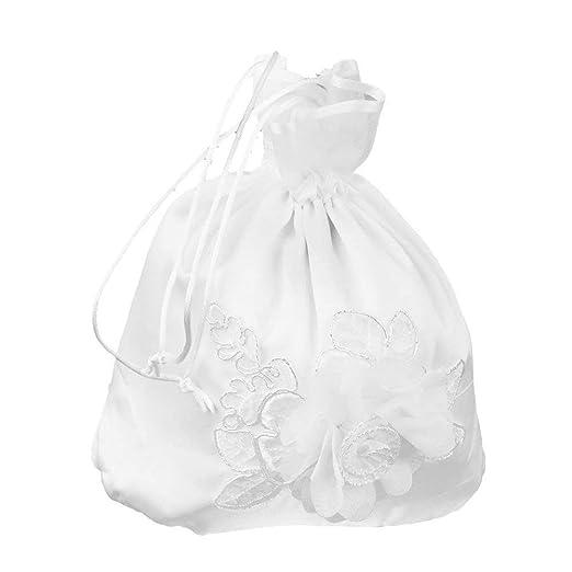 Blanco de novia joyería de caramelo bolsos del favor de la ...