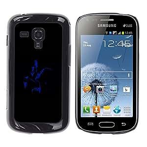 KOKO CASE / Samsung Galaxy S Duos S7562 / roman glamour vieux films homme femme / Delgado Negro Plástico caso cubierta Shell Armor Funda Case Cover