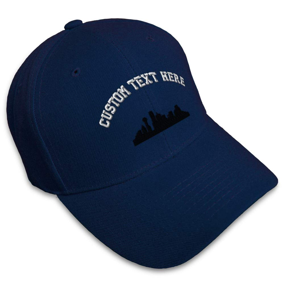 Custom Baseball Cap Dallas Tx Skyline Embroidery Dad Hats for Men /& Women