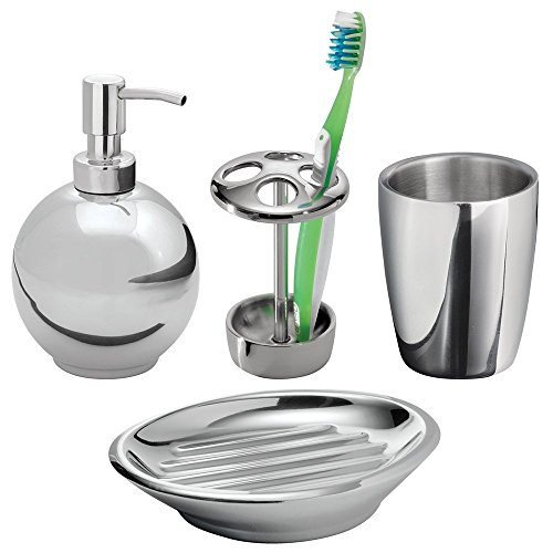 Compare price to chrome bath accessories set for Polished chrome bathroom countertop accessories