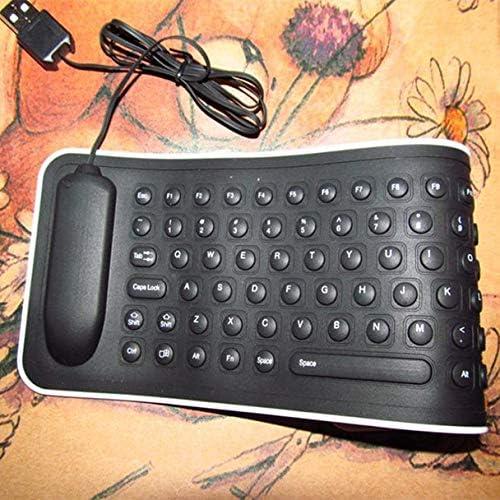 2019 The New Populaire Mini Clavier USB Flexible en Silicone Pliable pour Ordinateur Portable Mode Travail Les Affaires Cahier Clavier de Jeu Informatique (Noir) Noir