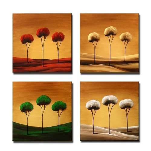 4 piece canvas wall art hand painted wieco art 4piece