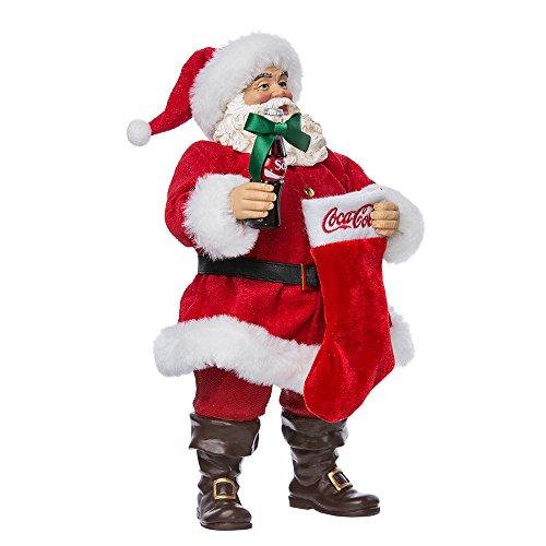 (Kurt Adler 10-Inch Santa with Coke Bottle and Stocking)
