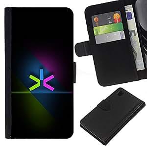 KingStore / Leather Etui en cuir / Sony Xperia Z1 L39 / Neon color minimalista