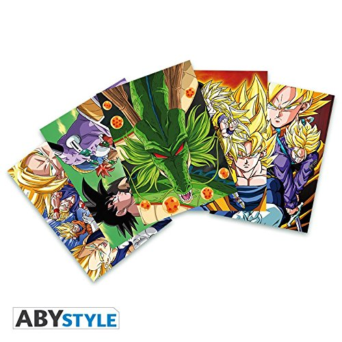 Dragon Ball – Post Cards DBZ – Set 1 X5 (14,8 x 10,5) Abystyle