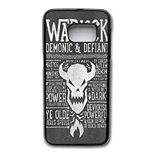 Custom made Case,World of WarCraft-WARLOCK PC Plastic Cell Phone Case for Samsung Galaxy S7,Black Case With Screen Protector (Tempered Glass) Free S-6622302