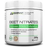 AMRAP Nutrition - Pure Beet Juice Powder - All-Natural - Organic - Optimal Nitric Oxide Support for Increased Endurance - With Electrolytes
