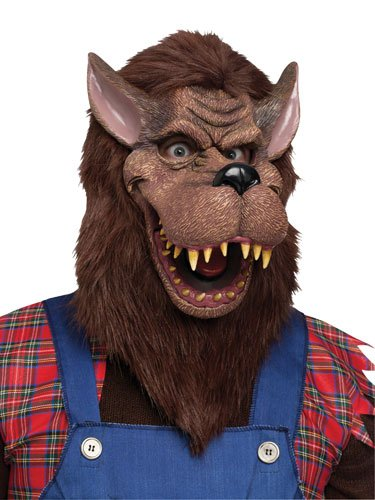 Fun World Unisex-Adult's Big Bad Wolf Mask Accessory, Multi, Standard -