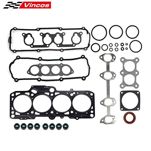 (Vincos Cylinder Head Gasket Kit HS26161PT Replacement For VW New Beetle 1998-2005 2.0L and Cabrio 2003-2005 2.0L Compatible with Volkswagen Jetta/Bora 1999-2005 2.0L Golf 1999-2006 2.0L)