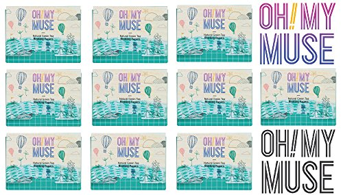 [Oh!My Muse] Natural Green Tea Oil Absorbing Sheets, Blotting Paper, 50 count (10 Packs) by Oh!My Muse
