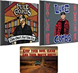 Music : Luke Combs: Complete Discography CD Collection (This One's For You Too / What You See Is What You Get) with Bonus Art Card