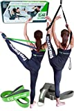 Dance Stretcher Gift Pack: Door Flexibility Trainer PRO + Stretching Band by EverStretch: Premium Stretching Equipment for Ballet and Dance. Our best Leg Stretcher and Ballet Stretch Band in giftbox.