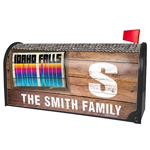 NEONBLOND Custom Mailbox Cover Retro Cites States Countries Idaho Falls -