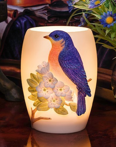 Blkuebird on Cherry Blossoms - Night Lamp By Ibis & Orchid Design