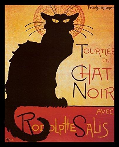 Buyartforless FRAMED Chat Noir 20x16 Art Print Poster Black Cat French Advertising (Chat Noir Poster)