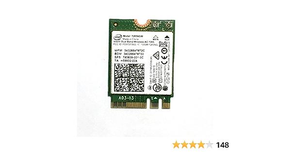 Intel Dual Band Wireless-AC 7265+BT M.2 WLAN/Bluetooth 867 Mbit/s Interno - Accesorio de Red (Interno, Inalámbrico, M.2, WLAN/Bluetooth, 867 Mbit/s, Verde)