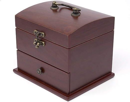 Tellgoy-Box Joyero de Madera e Interior Suave, Caja de bisutería ...