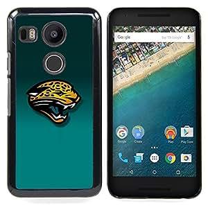 - Tiger Panther - - Cubierta del caso de impacto con el patr??n Art Designs FOR LG Google Nexus 5X Queen Pattern