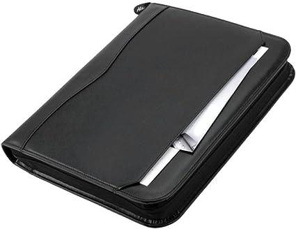 Alassio 30027 - Portadocumentos anillas 36 x 28 x 5 cm, color negro: Amazon.es: Oficina y papelería