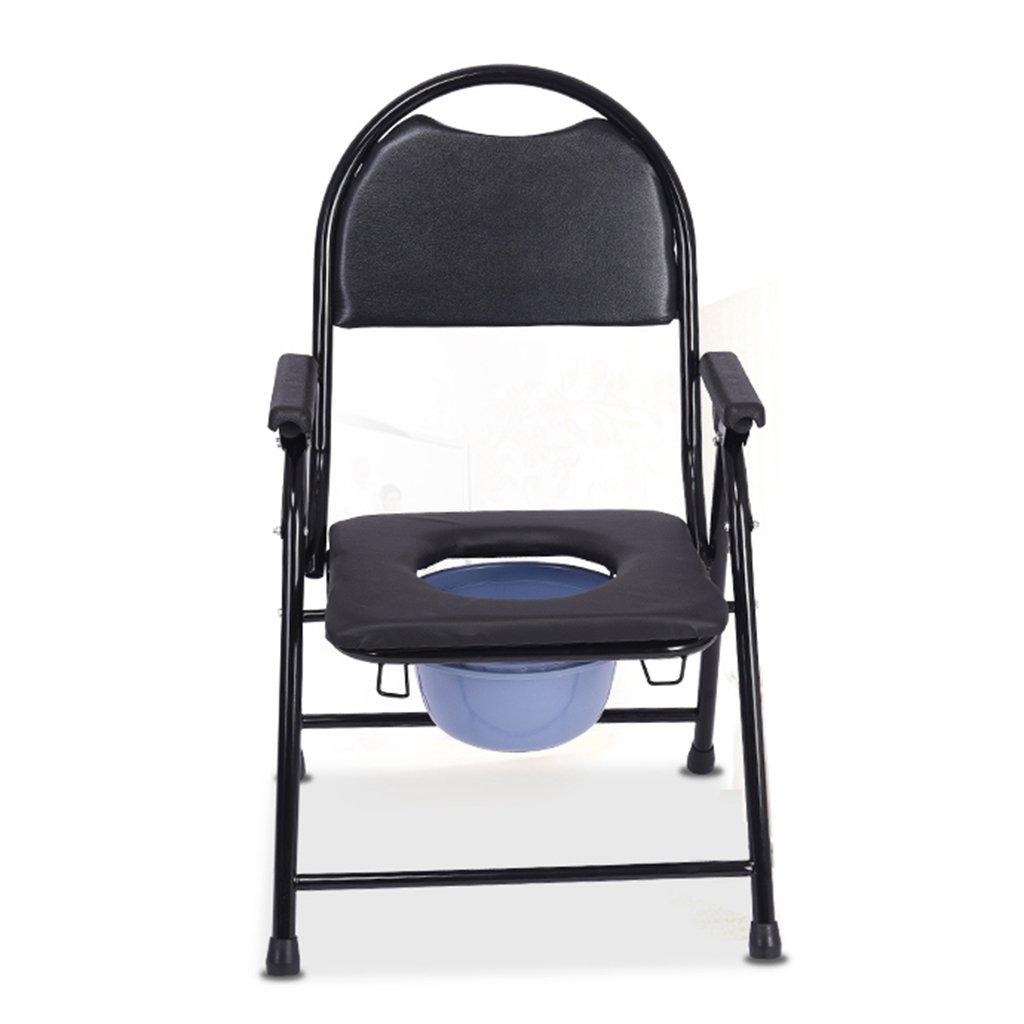 妊娠中の女性障害者年配者トイレ椅子高齢者便便座便器折りたたみ厚いトイレ椅子黒 ( 色 : #B ) B07C5N82Q1 #B #B