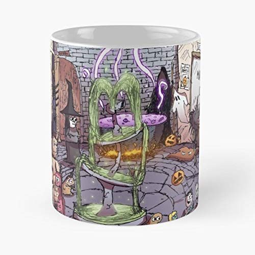 Halloween Town Skeleton Zombie - 11 Oz Coffee Mugs Unique Ceramic Novelty Cup, The Best Gift For Halloween.]()