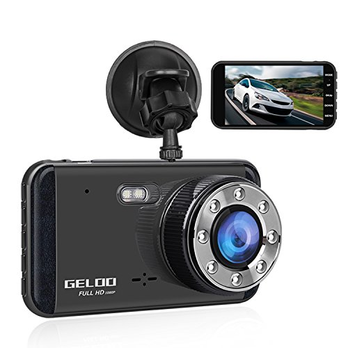 GELOO Dash cam, Dash Camera for Cars with 3.0″ Screen Full HD 1080P, 170 Wide Angle Car Camera Built-in Night Vision, G-Sensor, WDR, Loop Recording