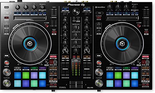 Pioneer DDJ-RR Portable 2-Channel Controller for Rekordbox DJ Bundle with Stand, Headphones, and Austin Bazaar Polishing Cloth