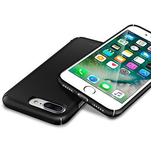 Ringke [SLIM] Funda iPhone 7 Plus / iPhone 8 Plus, Ajuste en el Mango Ultra-Delgada de Fluido Borde Curvado la Piel Cubierta de la Caja Protectora Lightweight de Revestimiento - Frost White SF Black