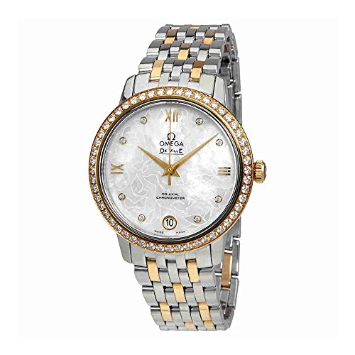 Omega De Ville Prestige Mother of Pearl Butterfly Dial Ladies Watch 424.25.33.20.55.004