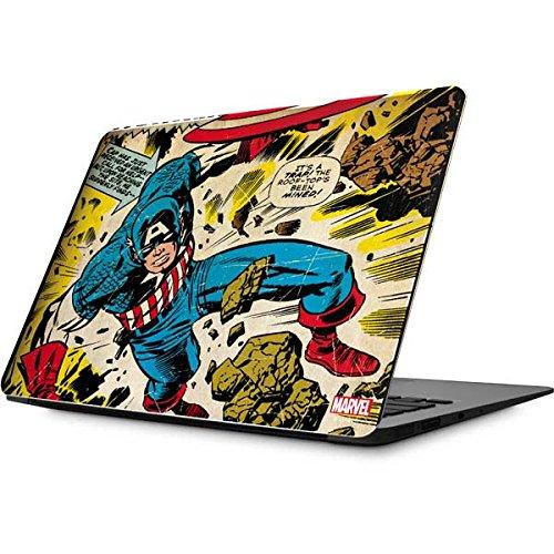 Skinit Marvel Comics MacBook 12-inch (2015 Retina Display) Skin - Captain America Rooftop Explosion Design - Ultra Thin, Lightweight Vinyl Decal ()
